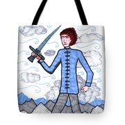 Tarot Of The Younger Self Page Of Swords Tote Bag