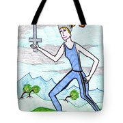 Tarot Of The Younger Self Queen Of Swords Tote Bag