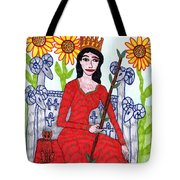 Tarot Of The Younger Self Queen Of Wands Tote Bag