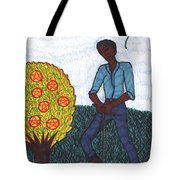 Tarot Of The Younger Self Seven Of Pentacles Tote Bag