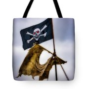 Tattered Sail And Pirate Flag Tote Bag