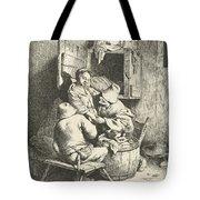 Tavern Man Caressing A Woman Tote Bag