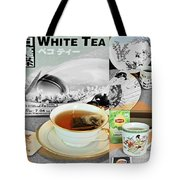 Tea Collage With Brush  Tote Bag