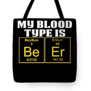 Teachers Assistant Design Blood Type Is Beer Gold Tote Bag