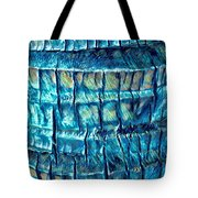 Teal Palm Bark Tote Bag by Cindy Greenstein