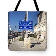 Tel-aviv Jaffa Road Sign Tote Bag