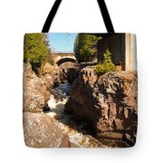 Temperance Bridges Tote Bag by James Peterson