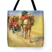 Ten Thousand Mile Motor Race Camel Train Tote Bag