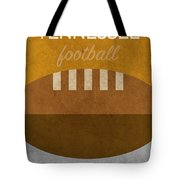 Tennessee Football Minimalist Retro Sports Poster Series 004 Tote Bag