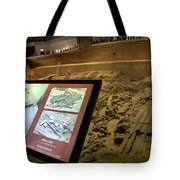 Terra Cotta Warriors In Pit 3 Ruins With Diagram Tote Bag