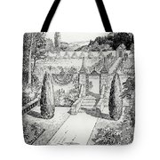 Terrace Walk And Herb Garden Tote Bag