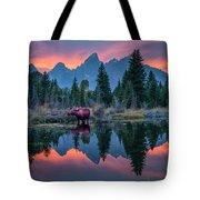 Teton Moose Tote Bag