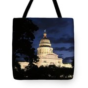 Texas State Capital Dawn Panorama Tote Bag