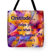 Text Art Gratitude Tote Bag