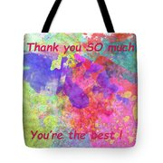 Thank You So Much Hibiscus Abstract Tote Bag