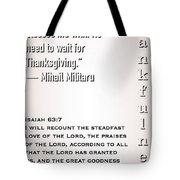 Thankful 63 7 Tote Bag