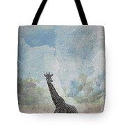 The African Giraffe Tote Bag by Mary Lee Dereske