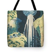 The Amida Waterfall In The Province Of Kiso  Tote Bag