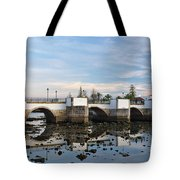 The Antique Bridge Of Tavira. Portugal Tote Bag