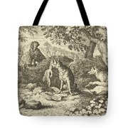 The Badger Hurries To Warn Renard Of The Lion's Intention Tote Bag