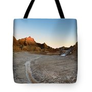 The Badlands And A Sunrise Tote Bag