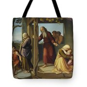 The Banishment Of Hagar  By Johann Friedrich Overbeck Tote Bag