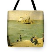 The Beach At Petit-dalles Also Known As On The Beach - 1873 - Virginia Museum Of Fine Arts Usa Tote Bag