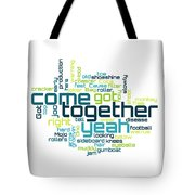 The Beatles - Come Together Lyrical Cloud Tote Bag