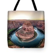 The Bend - Horseshoe Bend At Sunset In Arizona Tote Bag