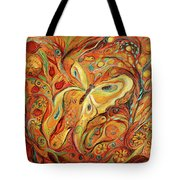 The Butterfly And Pomegranates Tote Bag