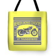 The Classic Thunderbird Motorcycle Tote Bag