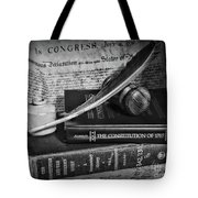 The Constitutional Lawyer In Black And White Tote Bag
