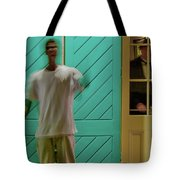 The Curious Waiter Tote Bag