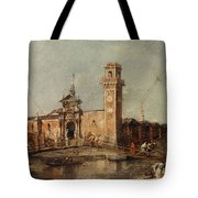 The Entrance To The Arsenal In Venice  Tote Bag