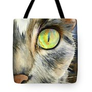 The Eye Of The Kitty Tote Bag