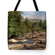 The Falls Of Dochart And Bridge At Killin In Scottish Highlands Tote Bag