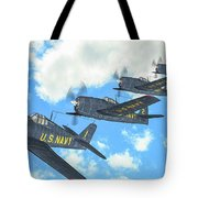 The First Blue Angels - Oil Tote Bag