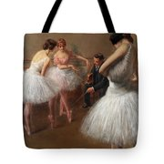 The First Pose, The Ballet Lesson Tote Bag