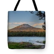 The Golden Hour At Lava Lake  Tote Bag by Matthew Irvin