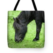 The Grass Is Greener Here. The Black Pony Tote Bag