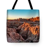 The High And Low Of The Badlands Tote Bag