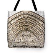 The Judgement Portal Of Notre Dame De Paris Tote Bag