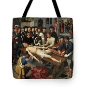 The Judgment Of Cambyses, Flaying Of Sisamnes Tote Bag