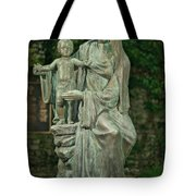 The Offering Statue Tote Bag