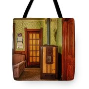 The Old Farmhouse Old Furnace And Woodwork Tote Bag