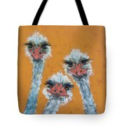The Ostrich Sisters Sketch Tote Bag by Jani Freimann