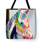 The Pink Horse Tote Bag