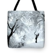 The Pure White Of Snow Tote Bag