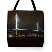 The Queensferry Crossing Tote Bag by Ross G Strachan
