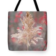 The Red Of Winter Tote Bag